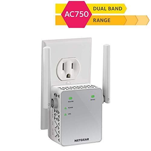 NETEGAR WiFi Range Extender AC750 Dual Band   WiFi coverage up to 750 Mbps (EX3700)