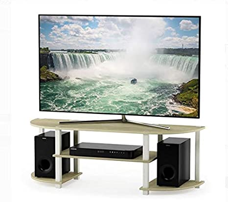 Amazon Com Tv Stand For 50 Inch Tv Cream Marble White Wood With