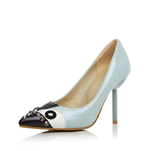 Moda punta de los tacones muy altos/¿Asakuchi finos zapatos de tacón mujer ? A