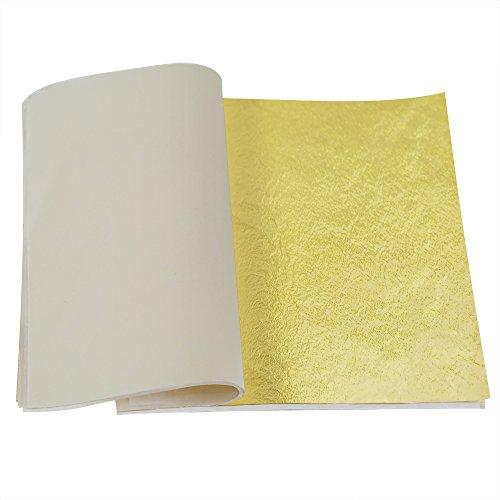 opount-100-sheets-imitation-gold-leaf-55-inch-for-art-crafts-decoration-gilding-crafting-frames