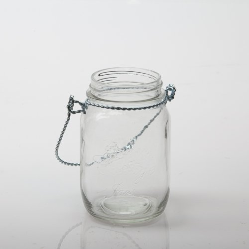 Eastland Small Mason Jar with Handle Glass Set of ()