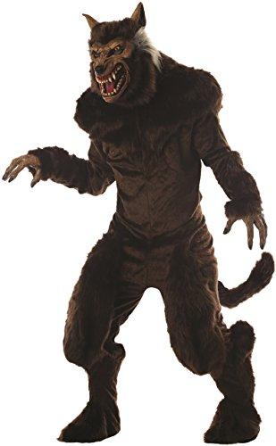 Mario Chiodo Men's Ultra Deluxe Werewolf Costume Monster Animal Beast Halloween One Size Fits Most Brown]()