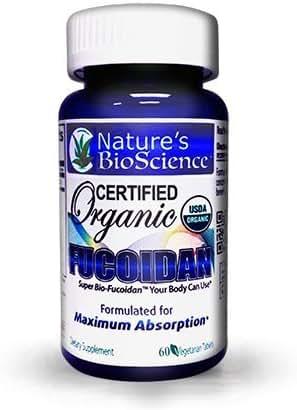 Nature's BioScience ® Certified USDA Organic Fucoidan 6 Bottles Pack