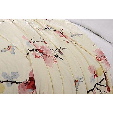 XUEXIN 100% Cotton Wedding Comforter Pink Home Textile Winter Warm Silk Quilt Jacquard Silk Blanket Wedding Bedding Sets , queen by XUEXIN