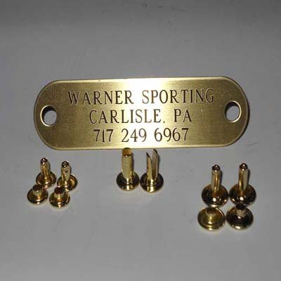 WARNER BRAND DELUXE BRASS IDENTIFICATION ID TAG PLATE EQUINE (HORSE (Halter Plate)