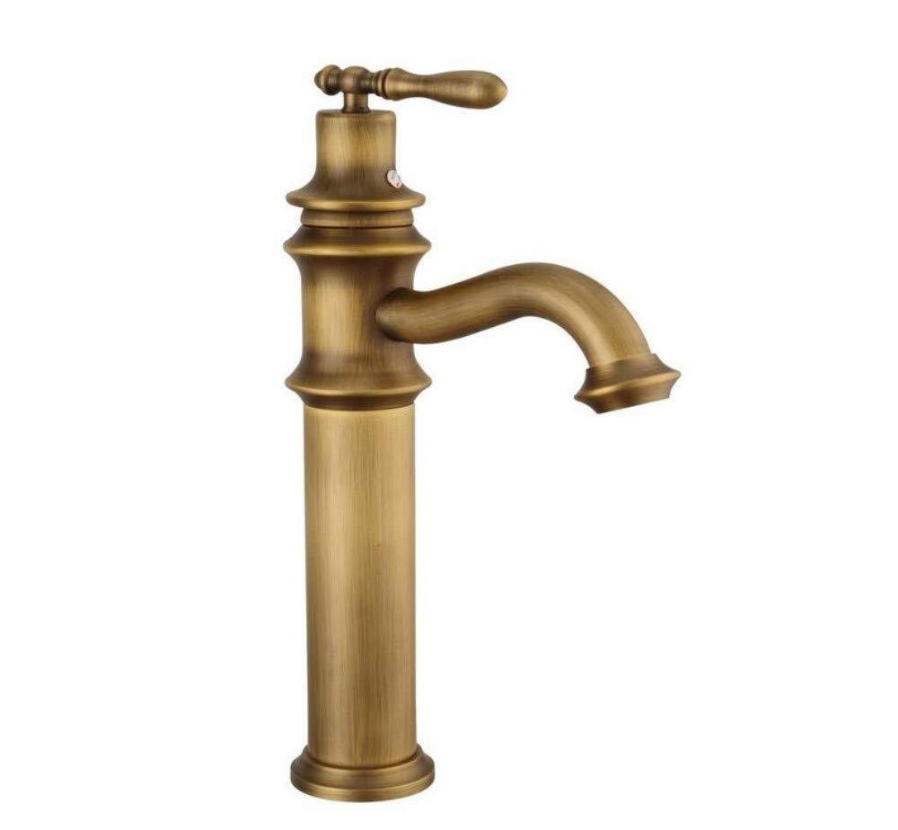 All Copper Faucet Brass Basin Faucets Single Holder Single Hole Deck Mounted Hot Cold Water Tap