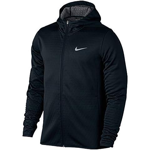 Nike Mens Tech Sphere Full Zip Hoodie (L) (Black / Dark Gray / FLT Silver)
