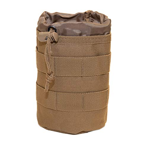 Tactical Baby Gear Bottle Pouch 2.0 Thermal Insulated MOLLE Drawstring Open Top (Coyote Brown) from Tactical Baby Gear
