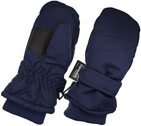 SHU-SHI Kids Winter Gloves with String Warm Fleece Cotton Mittens for Toddler Babies