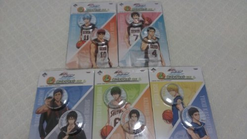 Basketball - shiny color ~ I award mini buttons of lottery Kuroko most all set of 5 (japan import) by Banpresto