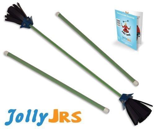 Green Jolly Jrs Beginner Juggling Sticks -