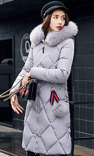 Hot Vento Lunghe Con Cappuccio Slim Accogliente Parka Outerwear Sciolto Invernale Glamorous Grau Puro Colore Giacca Trench Fit Invernali Donna Moda Addensare Sezioni Semplice Piumini Piumino E Rw6xqwS