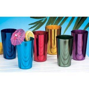 ALUMINUM TUMBLERS Retro Jewel Aluminum Colored Tumblers Cups Set of 6, Multicolor,  (Cups Tumbler Aluminum)