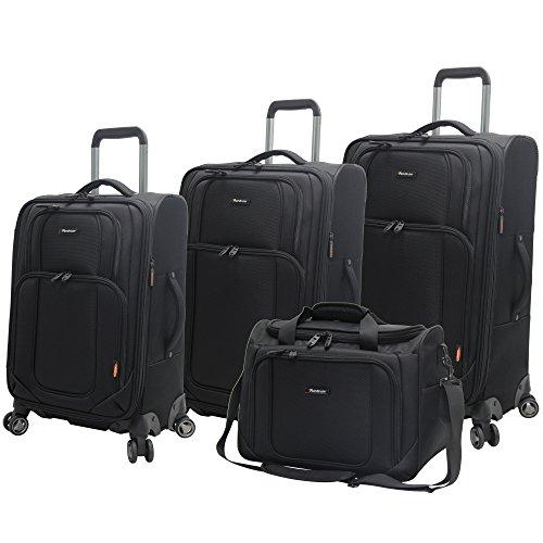 - Pathfinder Luggage Presidential 4 piece Spinner Suitcase Set (Black)