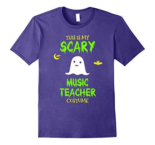 Music Man Halloween Costumes (Mens Scary Music Teacher Costume Halloween T-Shirt Medium Purple)