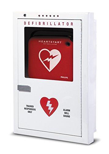 Philips PFE7023D Premium AED Cabinet Defibrillator- Semi-Recessed Mount