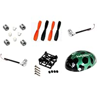 Walkera QR Ladybird [QTY: 1] Mini Quadcopter Clockwise Motor 3.7v [QTY: 1] Counter-Clockwise [QTY: 1] QR Ladybird-Z-04 Sleeve Set for 4 Motors Parts [QTY: 1] Main Frame Body RC Part [QTY: 1] 55mm Ultr