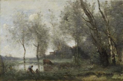 [Perfect effect Canvas ,the Best Price Art Decorative Canvas Prints of oil painting 'Jean-Baptiste-Camille Corot - The Pond, c. 1868-70', 12x18 inch / 30x46 cm is best for Bathroom gallery art and Home decoration and] (C Viper Costumes)