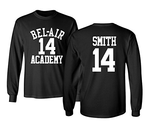 The Fresh Prince Of Bel Air Academy Will Smith Basketball Men's Long Sleeve T Shirt (Fresh Prince Of Bel Air Halloween)
