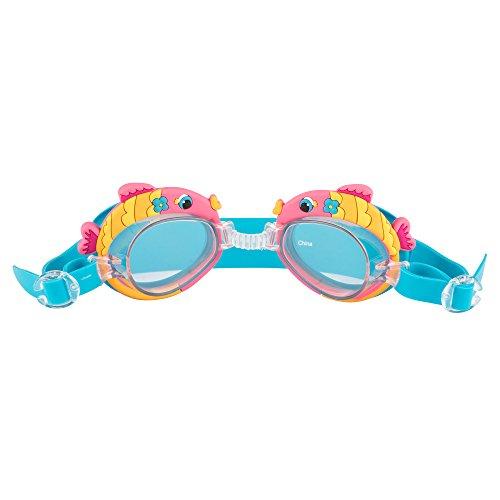 Pan Oceanic LTD Kids Swim Goggles - Fun Designs, Shark, Fish, Cats, Mermaid, Pirates (Baby Swim Google)