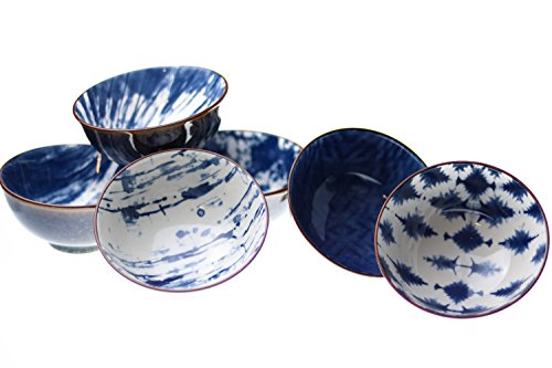 Certified International Porcelain Cereal, Soup, Pasta, Snack, Dessert, Serving Bowls, Set of 6, 10.9 oz, 4.75 inch Microwave, Dishwasher -