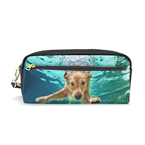 Pencil Case Pouch Storage Labrador Retriever Puppy Stationery Cosmetic Makeup Wristlets Bag Zipper (Labrador Retriever Stationery)