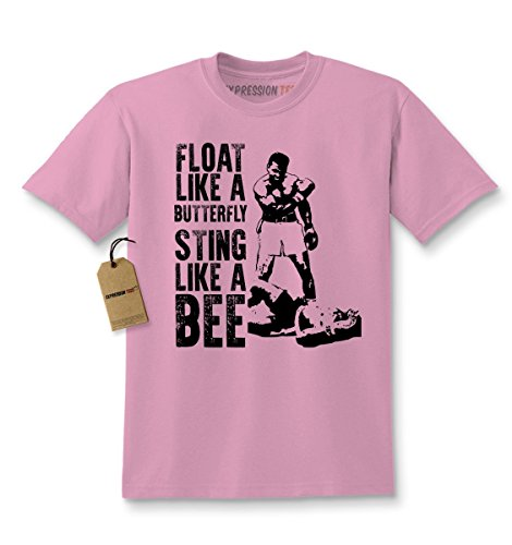 Kids Float Like A Butterfly... T-Shirt Small Light Pink