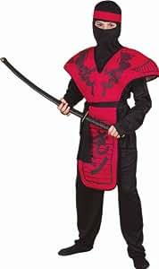 Forum Novelties Red Dragon Ninja Warrior Costume, Child Small