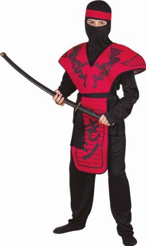 Forum Novelties Red Dragon Ninja Warrior Costume, Child -