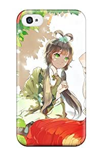New Premium ZKKTCFE11431HNKPM For Apple Iphone 5C Case Cover / Brunettes Trees Vocaloid Dress Flowersbuildings Shadows Brown Twintails Smiling Sitting Open Mouth Gray Ornaments Flower Inluo Tianyi Skies Yuezheng Ling Chinese Case Cover