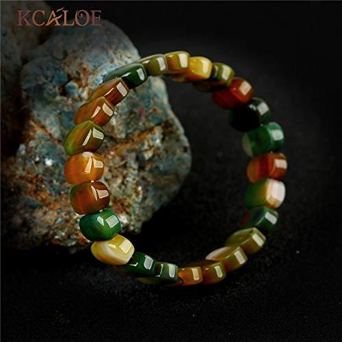Classic Black Onyx Semi-Precious Stones Charms Bracelet | Stretch Beaded Natural Stone Bracelets Bangles | for Women Gift (Multicolor - Onyx Precious Semi