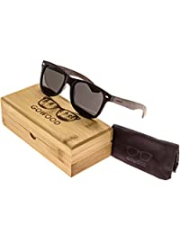 Ebony Wood Wayfarer Sunglasses For Men & Women with Polarized Lenses GOWOOD Canadian