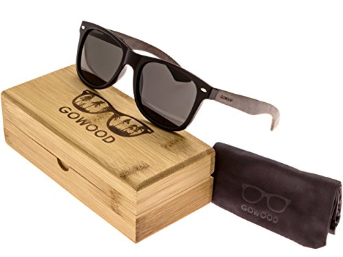Ebony Wood Wayfarer Sunglasses For Men & Women with Polarized - Wood Sunglasses Recycled