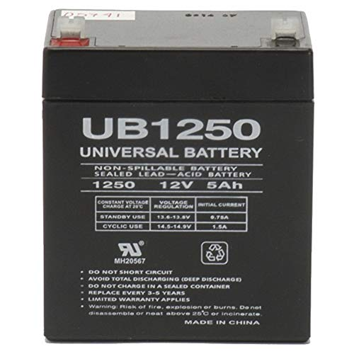 Universal Power Group 12V 5AH SLA Battery Replacement for GE Concord 4 Intrusion ()