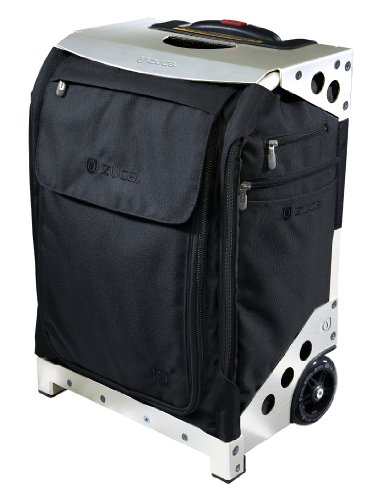 Zuca Flyer Travel Collection - Silver Frame with Black Insert Bag, Standard Packing Pouch Set with TSA Toiletry Bag and Matching Travel Cover - newest Zuca design