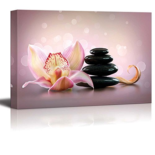 Spa Stones and Orchid Flower Stone Massage ing