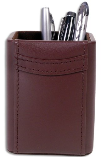 Brown Leather Pencil (Dacasso Chocolate Brown Leather Pencil Cup)