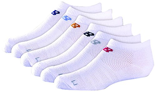 New Balance Kids Unisex 6 Pack No Show Socks by New Balance