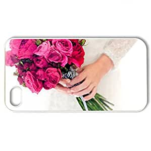 Beautiful Bouquet For All Friends DN - Case Cover for iPhone 4 and 4s (Flowers Series, Watercolor style, White)