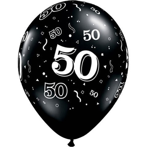 Around Black Latex Balloons Package product image