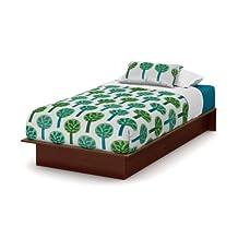 "South Shore Furniture 3046235 Libra Twin Platform Bed, 39"", Royal Cherry"