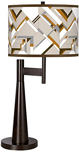 Craftsman Mosaic Giclee Novo Table Lamp