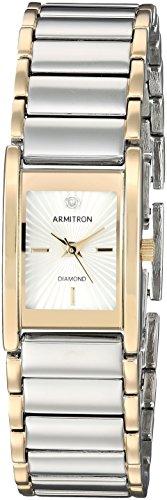 Armitron Women's 75/5441SVTT Diamond-Accented Dial Two-Tone  Bracelet Watch
