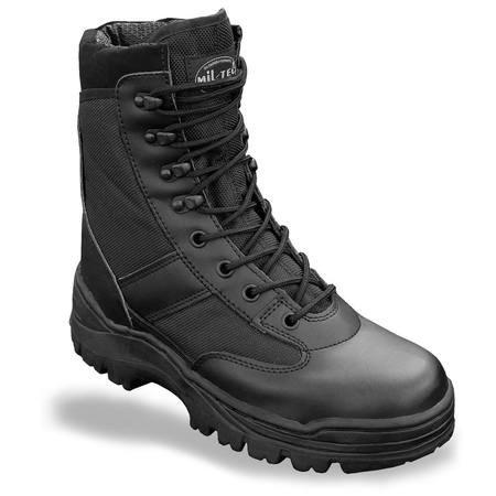 Mil Tec SWAT Stivali Nero Stivali da lavoro Scarpa da trekking montagna di scarpa Outdoor Scarpe Taglia 37–50