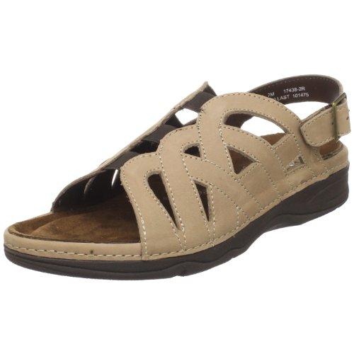 Removable Footbed (Drew Shoe Women's Sandy Slingback Sandal,Sand Nubuck,9 M US)