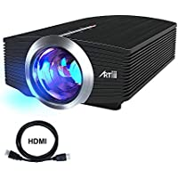 Artlii US-500B 1600 Lumens Portable Movie LCD Projector with 130