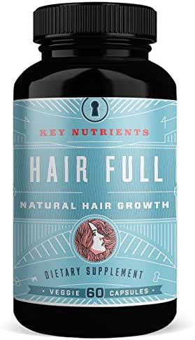 Hair Growth Vitamins with Biotin: Hair Full Promotes Fuller, Thicker, Healthier Hair, with Biotin, Keratin Bamboo & More. for Women & Men, for Hair, Skin & Nails. 60 Veggie Caps (1)