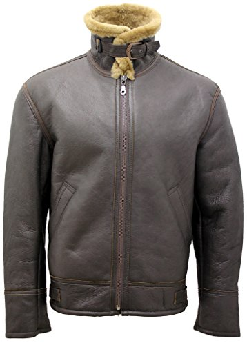 Bomber 2 World Shearling B3 Sheepskin Flying Leather War Men's Jacket Ginger AYwCRxqx0