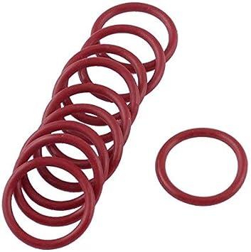 Anillos tóricos de silicona roja gruesa Sellos de aceite 24mm OD ...
