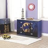 O'Kids 0116003 Batman Dresser, 31.75'' Height, 18.75'' Wide, 44.75'' Length, Multicolor